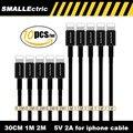 5 шт. черные молнии 1 m 0.3 m usb кабель для передачи данных зарядное устройство для iphone 7 6 6 S 5 5S 5C ipad кабель мобильный телефон кабели зарядного шнура