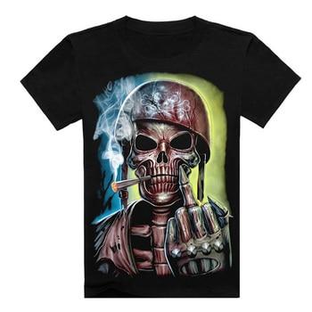 Hip Hop T shirt Men Tshirt T-shirt 3D Sickle Skulls Motorcycle Shackle Printed Casual-shirt Mens Casual Clothes Tee 3XL,YK UNCLE 10