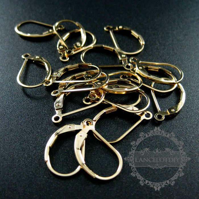 5056964fb0ac7 9x16mm leverback earrings hoop open ring gold filled high quality color not  tarnished DIY earrings supplies findings 1705044