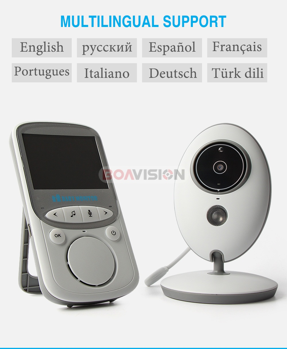 07 2.4ghz wireless video baby monitor