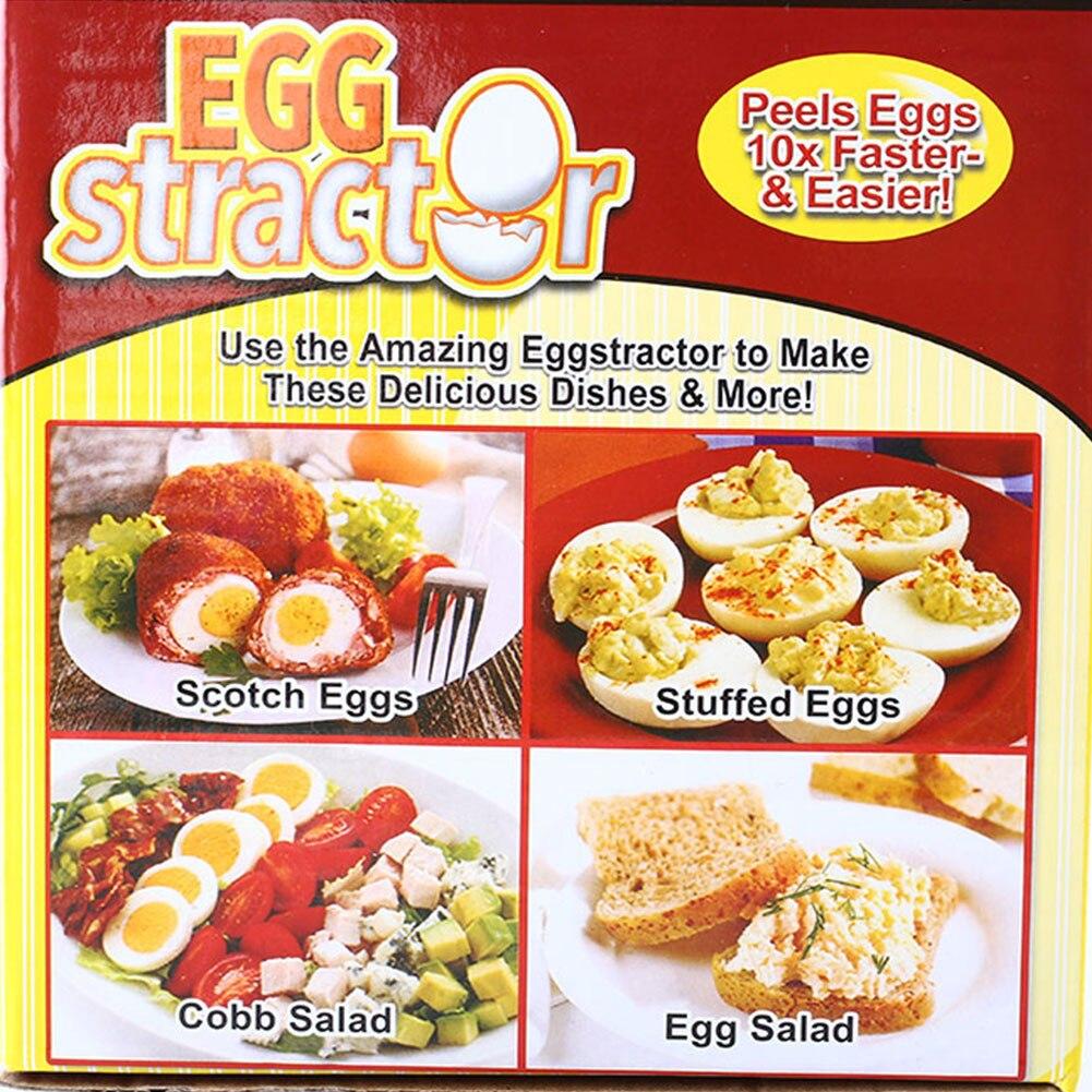 Эгстрактор мгновенно удаляет вареные яичные скорлупы, удаляет жесткий нож для приготовления пищи