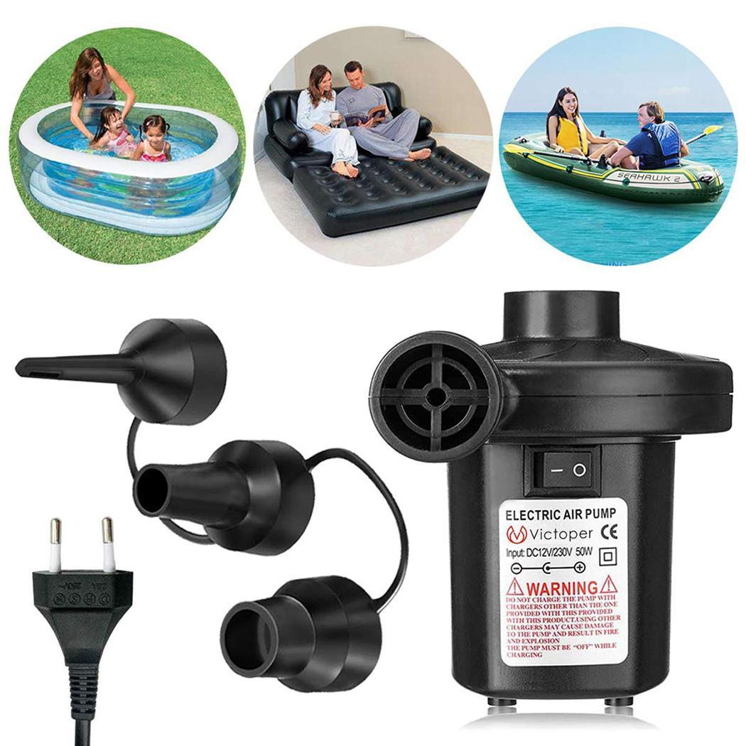 ELECTRIC AIRPUMP INFLATOR CAMPING AIRBED MATTRESS BLOW UP POOL BED BOAT AIR PUMP
