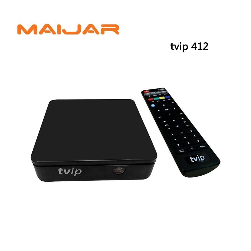 5pc IPTV Set Top Box Tvip412 Internet Arabic IPTV Tv Box TVIP Wifi Linux Os Support M3U Stalker EPG Youtube Airplay Tvip410 Plus