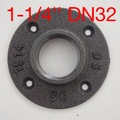 (For DN32-1-1/4''Pipe)Base Diameter:10CM Cast iron Industrial pipes flange wall pipe support base-4 hole