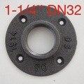 (Para DN32-1-1/4''Pipe) Diámetro de la Base: 10 CM tubos Industriales de hierro Fundido brida de pared soporte de la tubería base-4 agujero