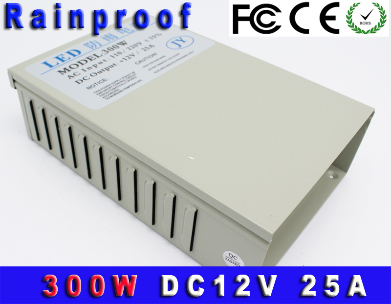 300W 12V 25A Rainproof Universal Regulated Switching Power Supply LED CCTV