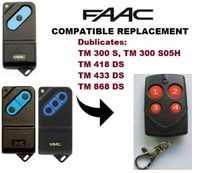 FAAC TM1 300, 418, 514zmh, 868 mhz télécommande Multi fréquence duplicateur 286-868 MHz SJQ166