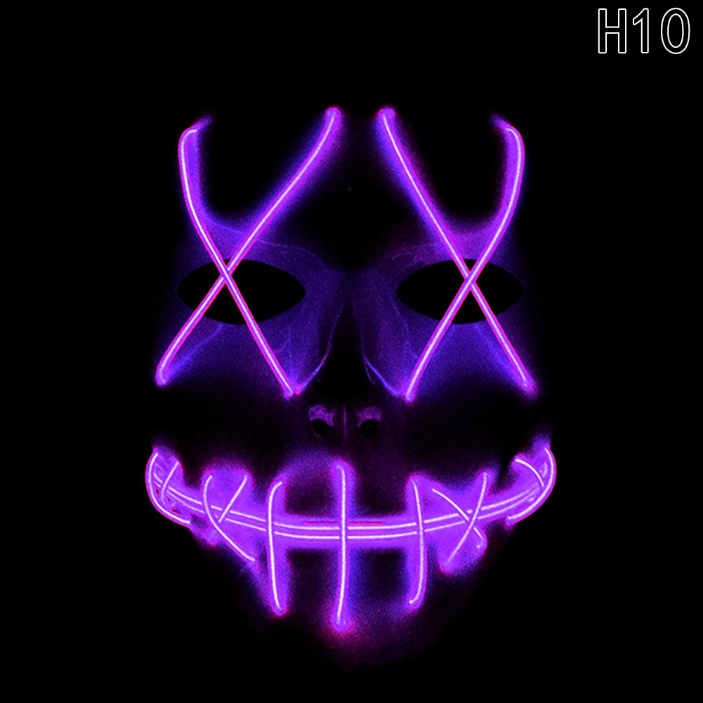 HTB1 kyOalxRMKJjy0Fdq6yifFXai - 1 Piece Halloween ghost Slit mouth light up glowing LED Mask Costume PTC 259