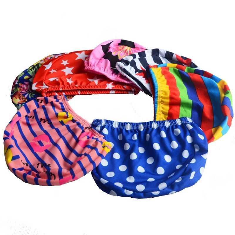 1/3/5 ชิ้นผู้ชายผู้หญิงผู้ใหญ่เด็กเด็กพิมพ์หมวกว่ายน้ำกันน้ำโพลีเอสเตอร์ป้องกันกีฬาความยืดหยุ่นหมวกว่ายน้ำ