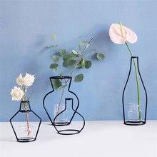 Искусственные цветы, ваза для цветов, железная полка, ваза для цветов, садовая Современная короткая креативная декоративная ваза, вечерние украшения для дома, Прямая поставка