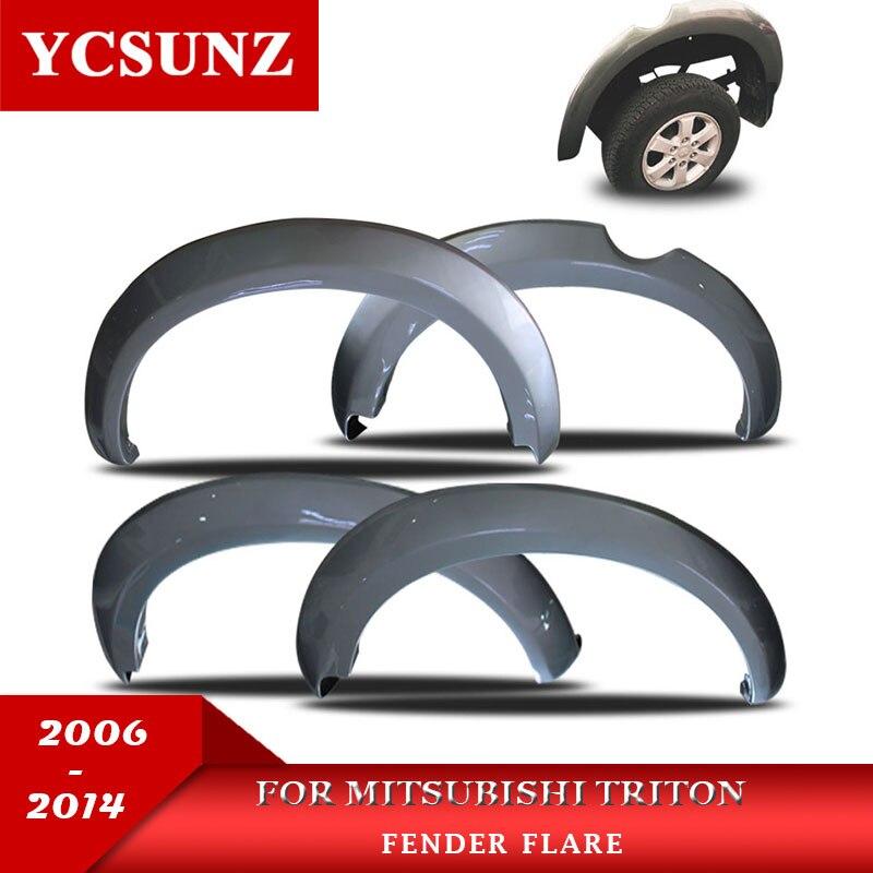 2006-2014 Pour Mitsubishi Triton Fender Flare ABS Fender Fusées Pour Mitsubishi L200 Car Styling Garde-Boue Accessoires Ycsunz