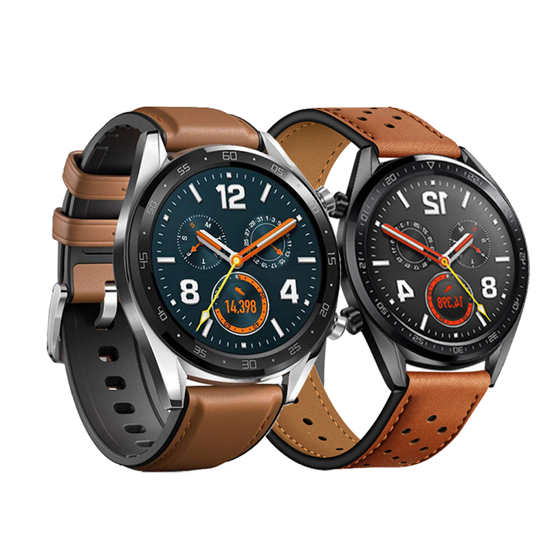 Huawei Uhr GT <font><b>band</b></font> für samsung galaxy <font><b>watch</b></font> 46mm S3 Frontier Strap <font><b>22mm</b></font> lederband amazfit GTR 47mm/ stratos/tempo Armband image