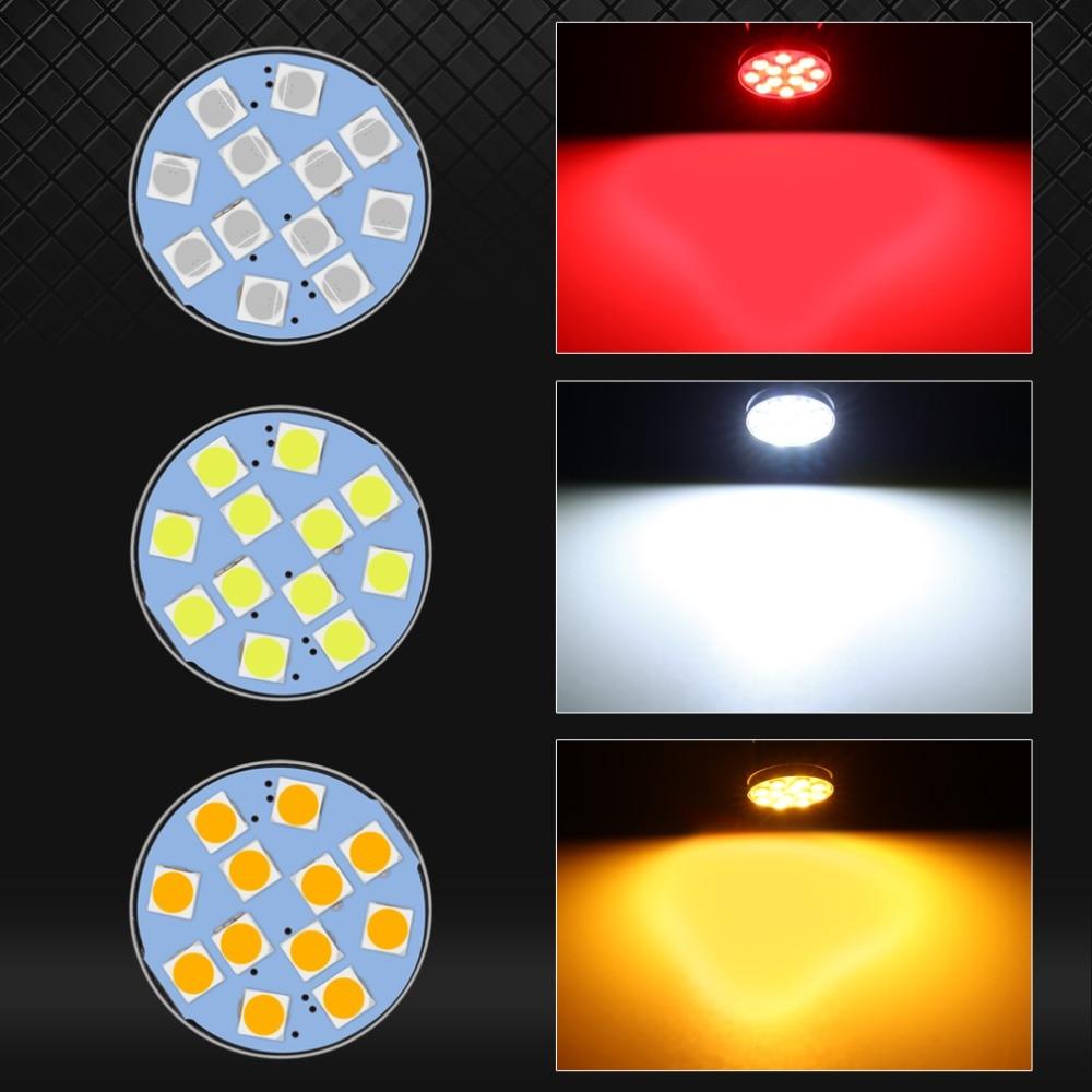 S& D 1156 BA15S P21W BAU15S PY21W светодиодный R5W R10W 12SMD 3030 автомобилей сигнала поворота Стоп-сигнал Фары заднего хода авто лампы 12V белого цвета-красный, желтый