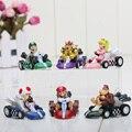 """Super Mario Bros 6 unids/set 2.4 """"KART tira de Las Figuras de Coches Kart versión del coche cartera Figuras Envío gratis"""