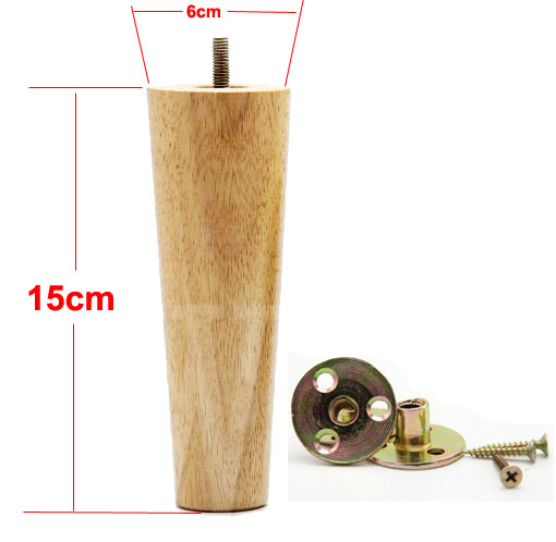 4Pieces/Lot Height:15CM  Diameter:4-6cm Log Colors Solid Wood Sofa Cupboard Legs Feet Furniture Parts