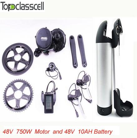 48V 750W C965 BBS02 8fun /bafang mid crank drive motor ebike kit+48V 10Ah lithium ion Bottle ebike battery