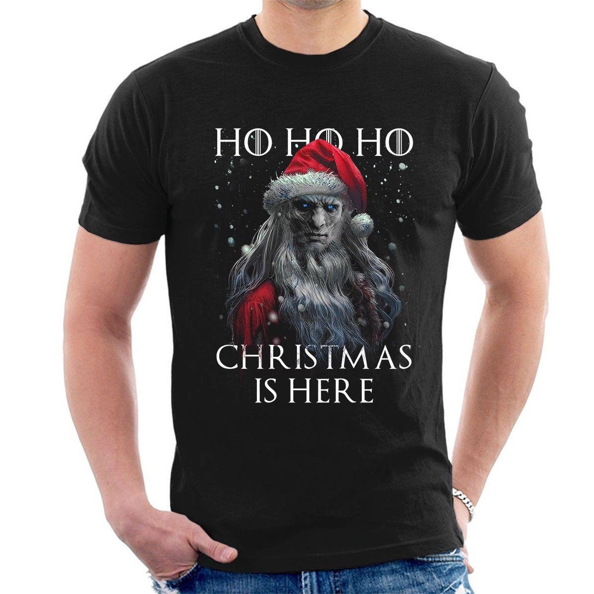 Ночь король Санта Клаусом футболка Рождество здесь Игра престолов Рождество футболка i10