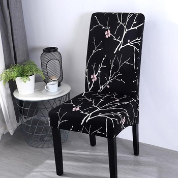 Removable and Printed Chair Cover Made of Spandex Material for Dining Room and Banquet