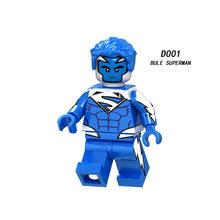Super Heroes Superman Tony Zombie Spider Model Building Block Toys LELE Figure Gift For Children(China)