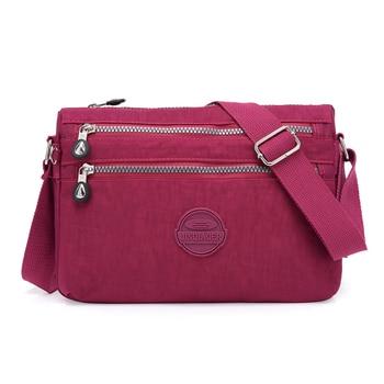 fcb08df4a9ff Летняя стильная женская сумка через плечо женские сумки известных брендов  нейлоновые сумки через плечо Bolsas Sac A основной Femme