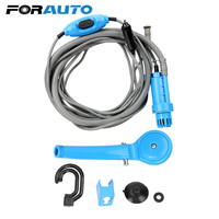 Car Washer Portable Car Shower Car Washing Outdoor Camping Travel Shower Cleaning Tool DC 12V with Cigarette Lighter