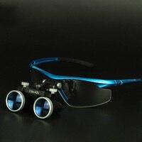Dental Equipment 3.5X Surgical Medical Blue Dental Loupes Anti fog Lens Dental Glasses