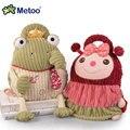 Candice guo! boneca de brinquedo de pelúcia Metoo mochila animal do bebê macia sapo tarja macaco schoolbag presente de aniversário 1 pc