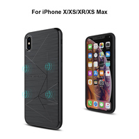 Nillkin caso de carregamento sem fio escudo magnético capa para iphone xs max/xr/xs/x tpu silicone gps suporte casos para carregador sem fio