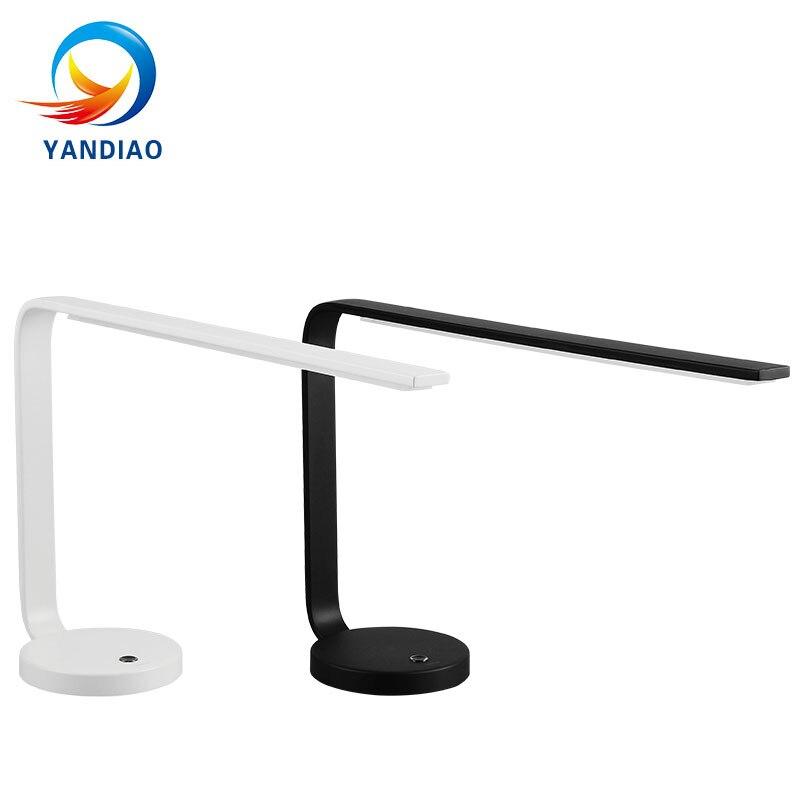 YANDIAO Новинка светодиодный настольная лампа защиты глаз DC Chageaable светодиодный настольная лампа сенсорный выключатель чтения света не Полярн