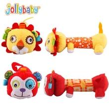 Fashion Children Hand Puppet Plush toys Rattle Monkey Cats Panda Dolls Toys Colorful Soft Initiation Babys Stuffed Plush Toys
