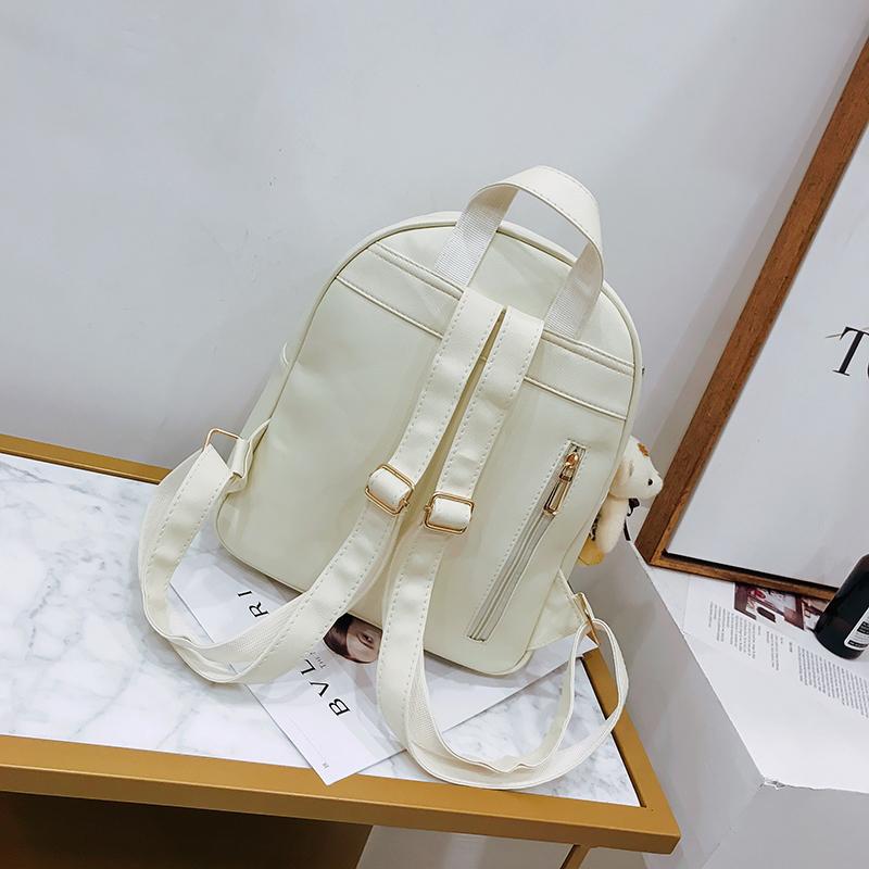 Backpack Female 3 Piece Combination Composite Bag Bear Hanging Inlaid Imitation Diamond Tassel Fashion Casual Shoulder Bag 51