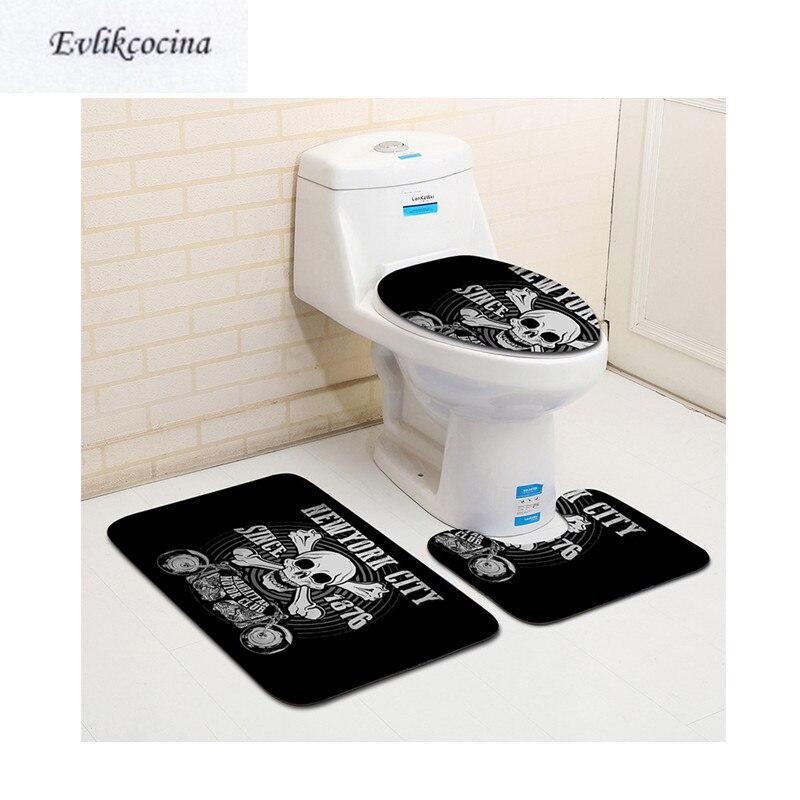 Kitchen Bath Bathroom Shower Floor Home Door Mat Rug Non-Slip Pirate skeleton