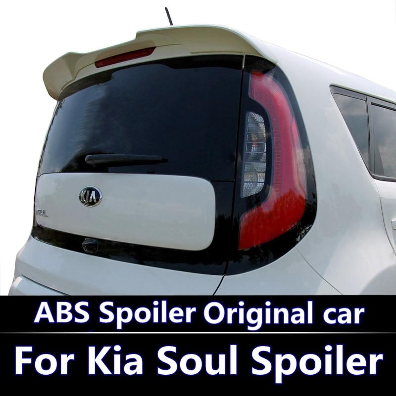 For Kia Soul 2016 2018 Spoiler ABS Material Car Rear Wing Primer Color Rear Spoiler For