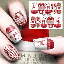 цена на Santa Claus Snowman Stickers for Nails Water Transfer Sticker Nail Art Decals DIY Fashion Wraps Tips Manicure Tools Nail Design