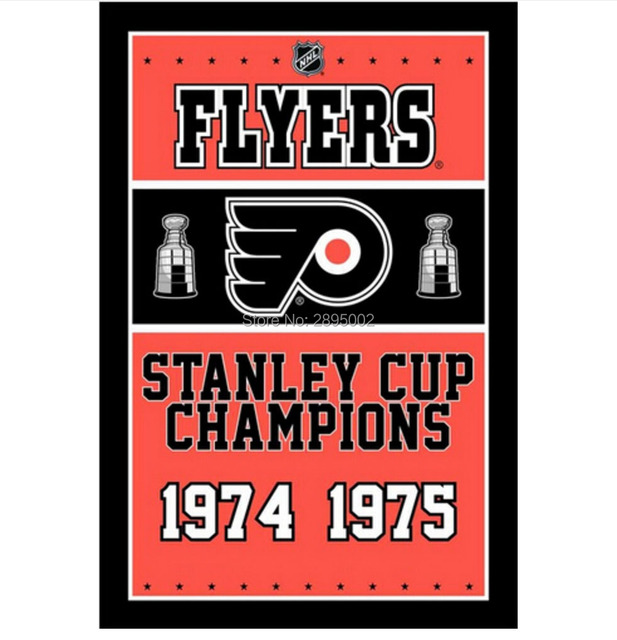 philadelphia flyers stanley cup championship man cave sports banner flag 3 x 5 custom