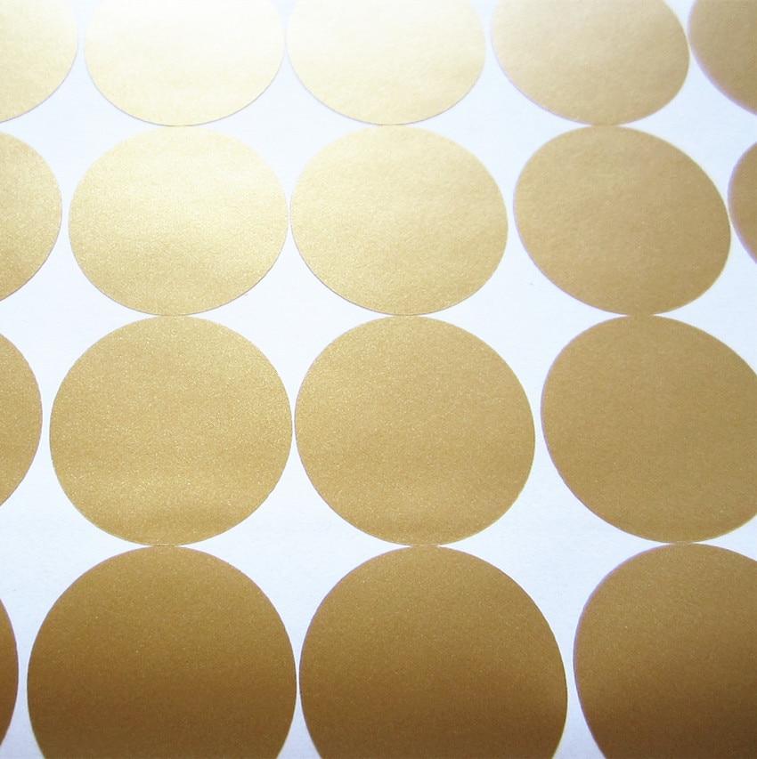70 copë-4cm i heqshëm Gold Polka Dots mur vinyl Decals, Qarqet - Dekor në shtëpi - Foto 4