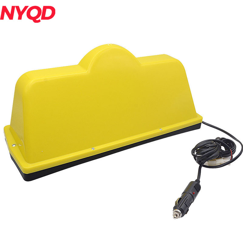 12V magnetic taxi Bases roof Top light LED sign lamp with Lighters wholesale taxi led light auto indicator lamp vehicles car windscreen cab sign white led taxi lamp 12v car styling free shipping