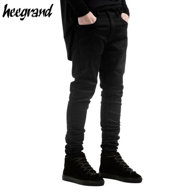 Hee grand hombres denim jeans 2017 nueva moda masculina sólido Biker Jeans flaco Lápiz de Los Pantalones de Los Hombres Ocasionales Básicos de Alta Calidad MKN917