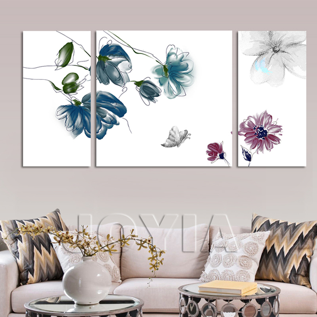 living room wall hangings. Abstract Ink Flower Wall Hanging Art Print Canvas Decorative Picture  Frameless Painting For Living Room Office Aliexpress com Buy