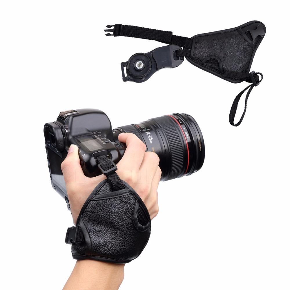 AP Hot Camera Bag PU Leather Hand Grip Strap Camera Strap Wrist Triang