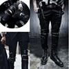 7 SIZE Plus Size Funky Japan Punk Men's Casual Slim Fit Skinny PU Faux Leather Zipper HIP HOP Joggers Costume Clubwear Trousers 8