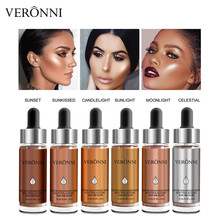 VERONNI Brand Liquid Highlighter Contour Face Brighten Makeup Glitter Shimmer 3D Bronzer Enhancer Base Cosmetic