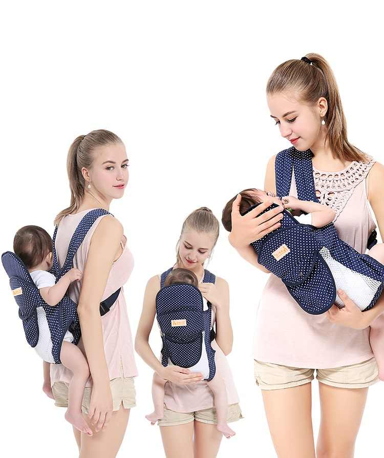 Light Weight Breathable Net Farbic Baby Carriers Backpacs For Summer Mom Dad Waist Stool Kids Sling Multifunctional Baby Hipseat