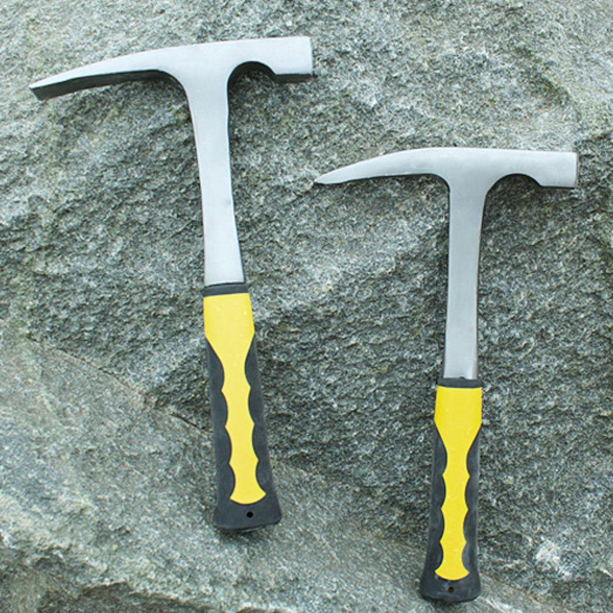 Flat/Pointed Carbon Steel Geological Hammer Shock Rock Reduction Outdoor Geology Exploration Teaching Multifuction Hand Tools