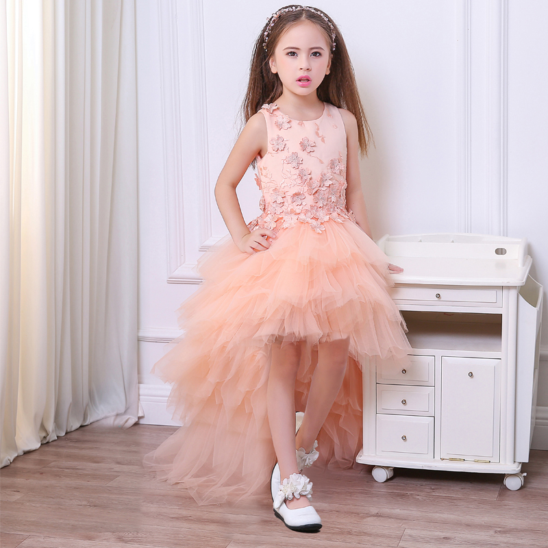 Appliques Draped Sequined Flowers Girl Dresses Bow Elegant Lace Flower Bow First Communion Dresses все цены