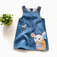 Платье для девочек детские джинсовые Симпатичные платья с мышками комбинезоны для девочек детские повседневные платья детская одежда