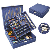 Makeup Organizer Necklace Jewelry-Box Storage-Box Ring Choker Flannel Best-Selling Large