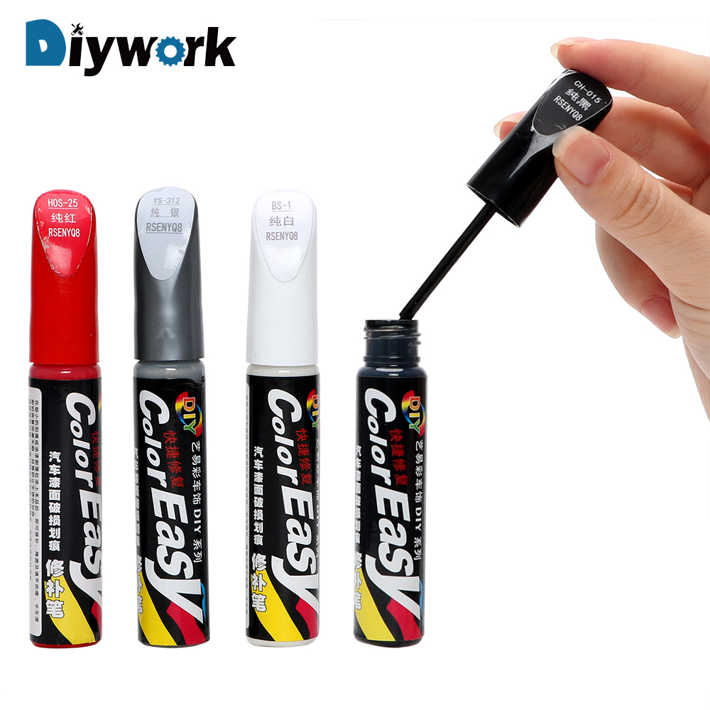 DIYWORK 4 Colors Auto Paint Pen Paint Care Fix It Pro Car Scratch Repair Hand Tool Set