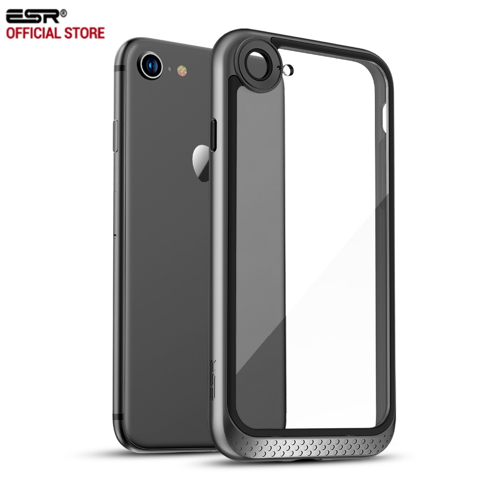 Caso para el iPhone 8/8 Plus ESR pesado deber doble capa sólida cubierta con parachoques marco claro duro para iPhone8/7/7 Plus/8 P