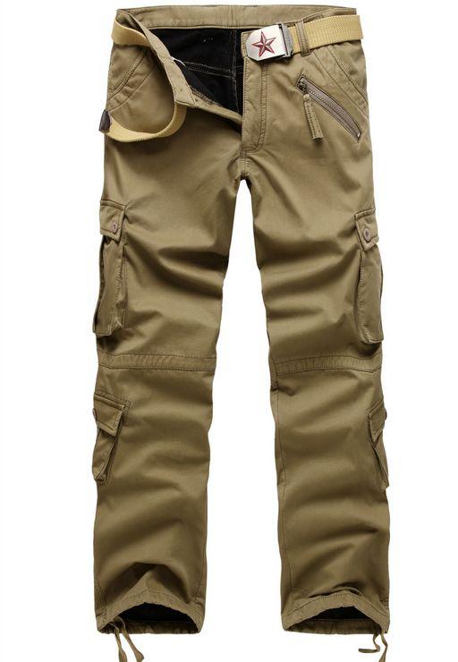 Hiver Double couche hommes classique Cargo pantalon chaud épais Baggy pantalon coton pantalon pour hommes mâle militaire Camouflage tactique